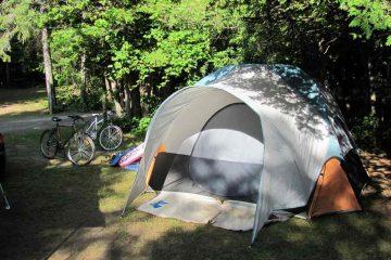 Bon séjour de camping en été
